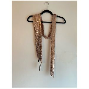 Gold Sequin Scarf